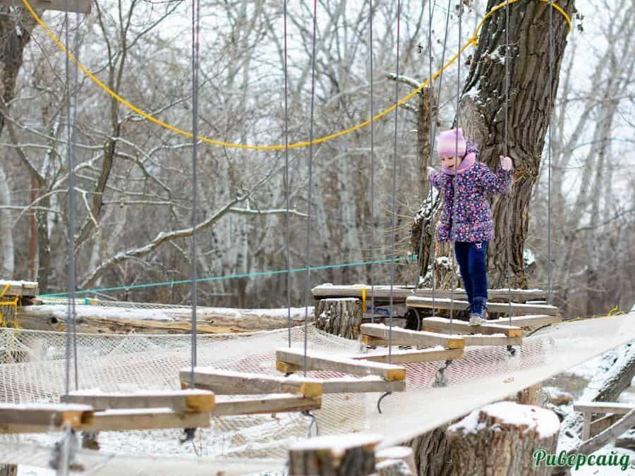 Веревочный парк отдых на Дону Волгоградская область